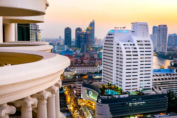 View of Bangkok from lebua at State Tower Hotel