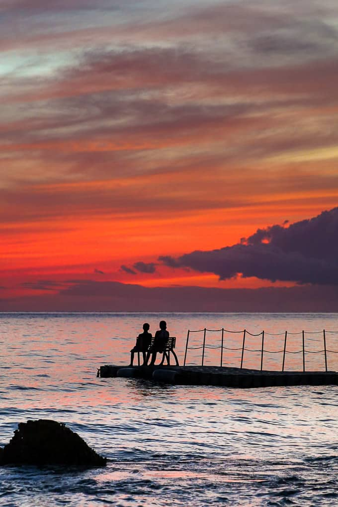 Sunset at The Fish Pot Restaurant, Barbados