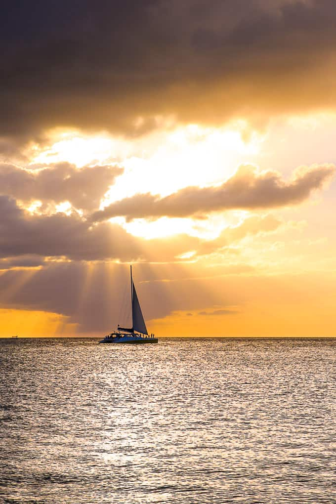 Sunset boat cruise in Barbados