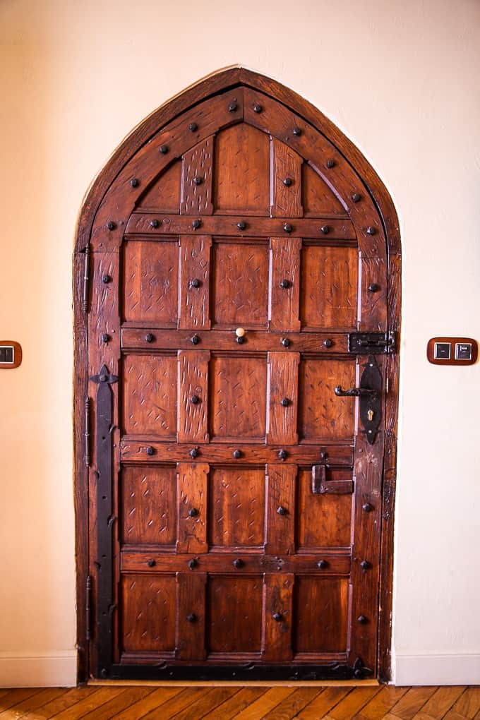 Door to the room, Chateau Eza, France
