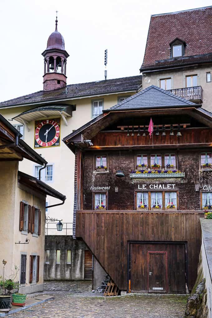 Le Chalet Restaurant, Gruyères, Switzerland