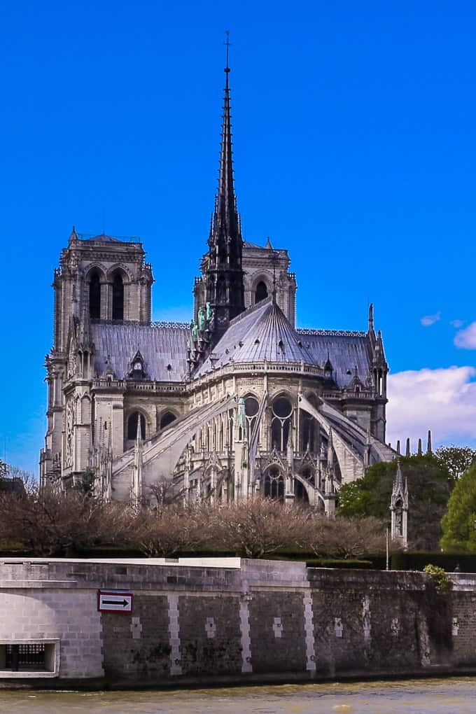 Notre Dame de Paris, View from the Seine, Paris - photo taken in 2016