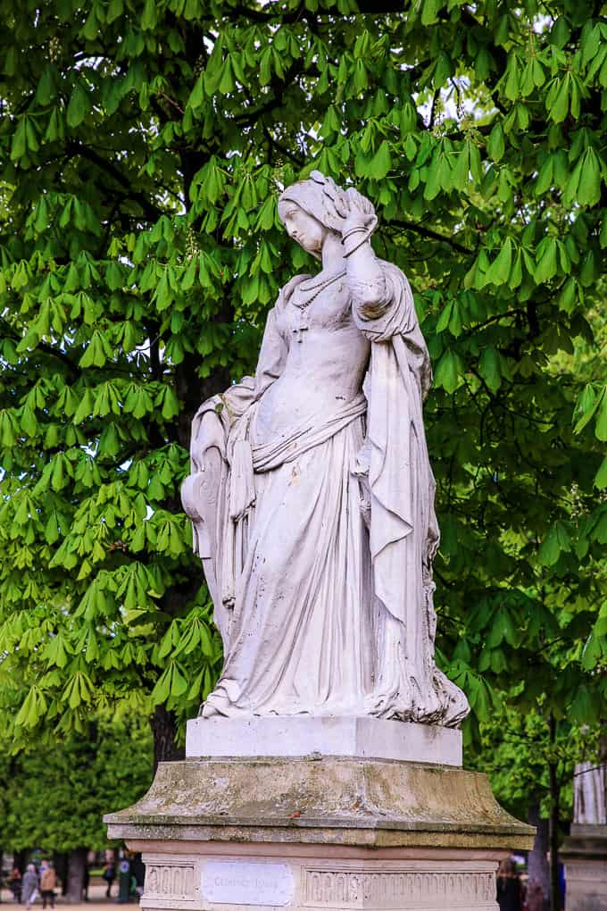 Statue of Clemence Isaure, Jardin du Luxembourg, Paris