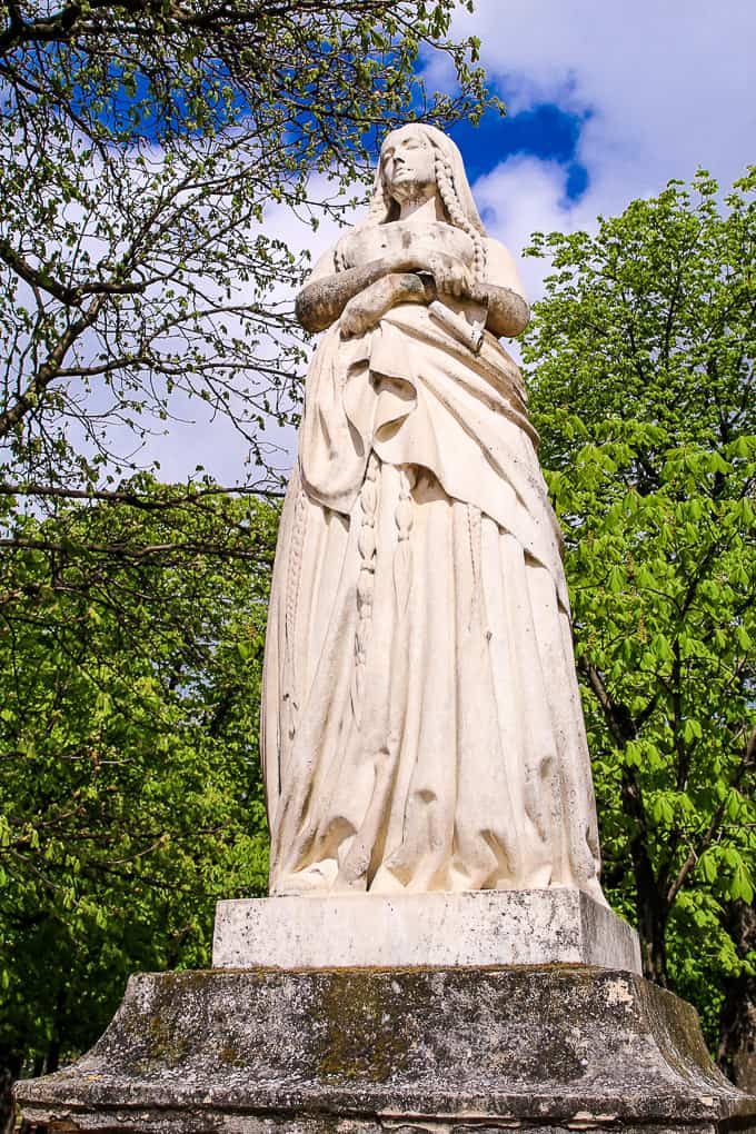 Statue of Sainte Genevieve, Jardin du Luxembourg, Paris