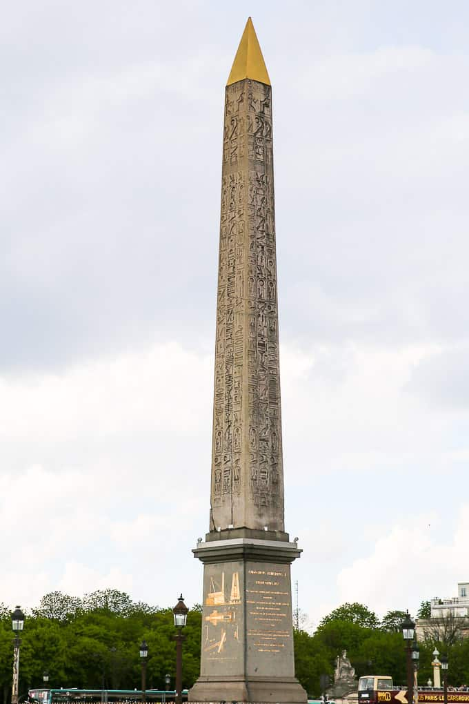 The Obelisk of Luxor, Place de la Concorde, Paris, France