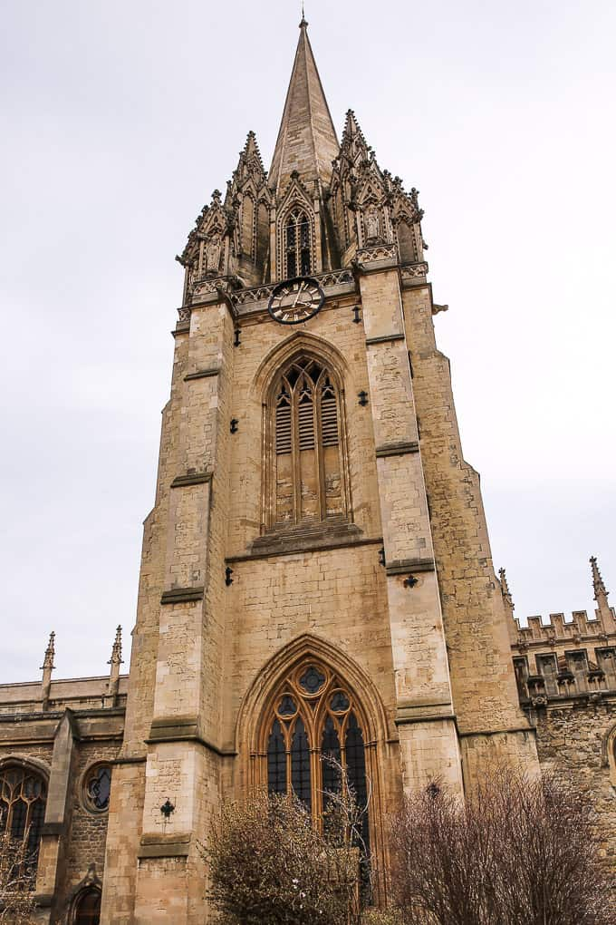The University Church of St Mary the Virgin, an Oxford church