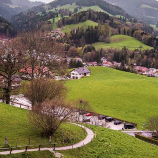 Countryside near the town of Gruyères, Switzerland