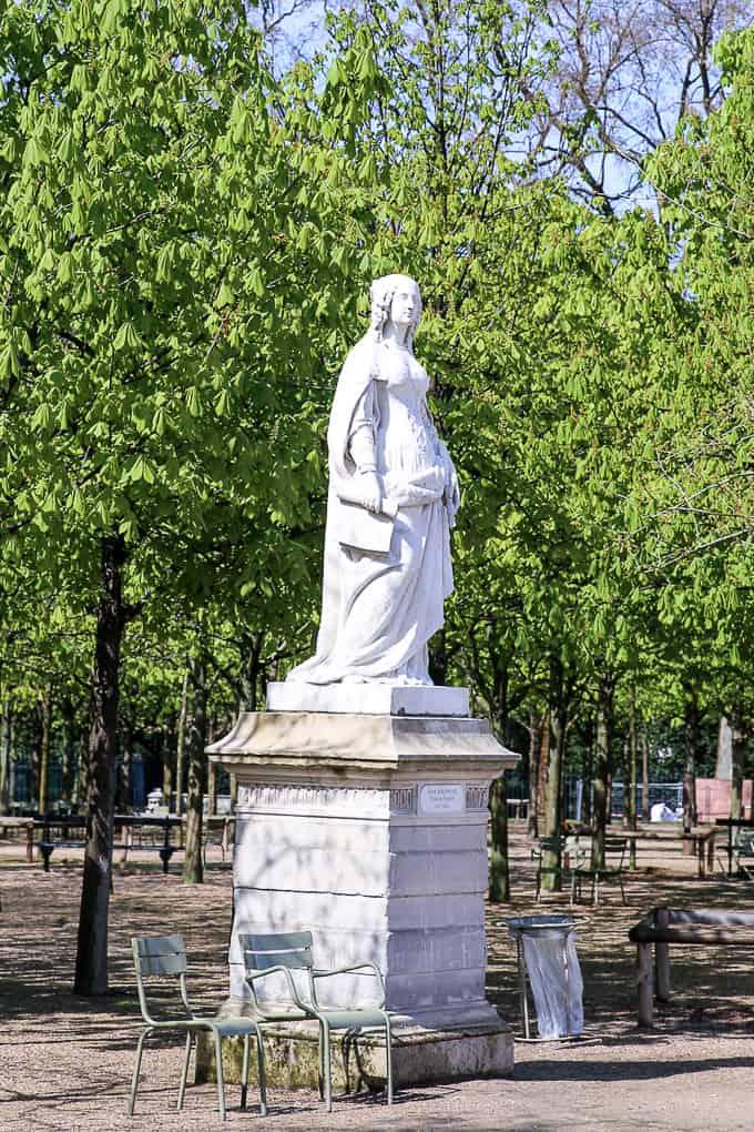 the Anne d'Autriche statue in Jardin du Luxembourg, Paris