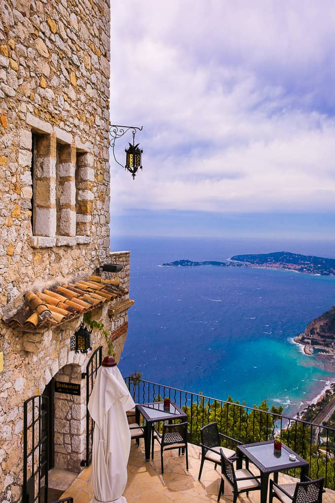 View of the Mediterranean Sea from Chateau Eza, Eze Village, France