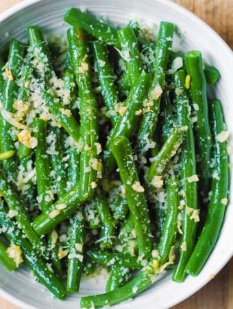 Garlic Green Beans with Parmesan