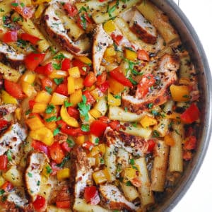 Cajun Chicken Pasta with Bell Peppers